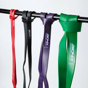 Resistance band pull up set, Red black, purple, green