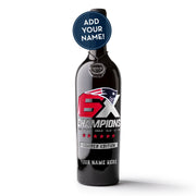 Patriots 6X Custom Name Etched Wine