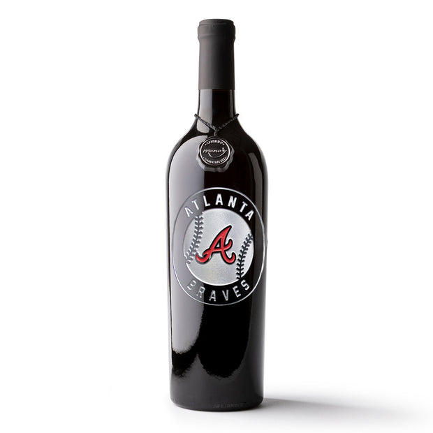 Atlanta Braves™ Baseball Etched Wine