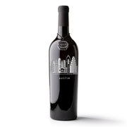 Austin Skyline Etched Wine Bottle