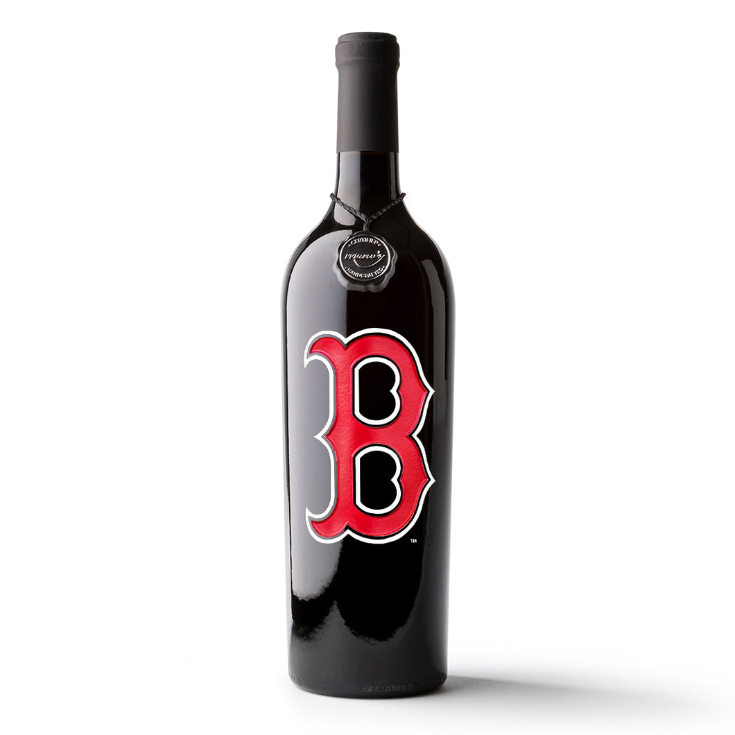 Boston Red Sox™ Logo Etched Wine Bottle