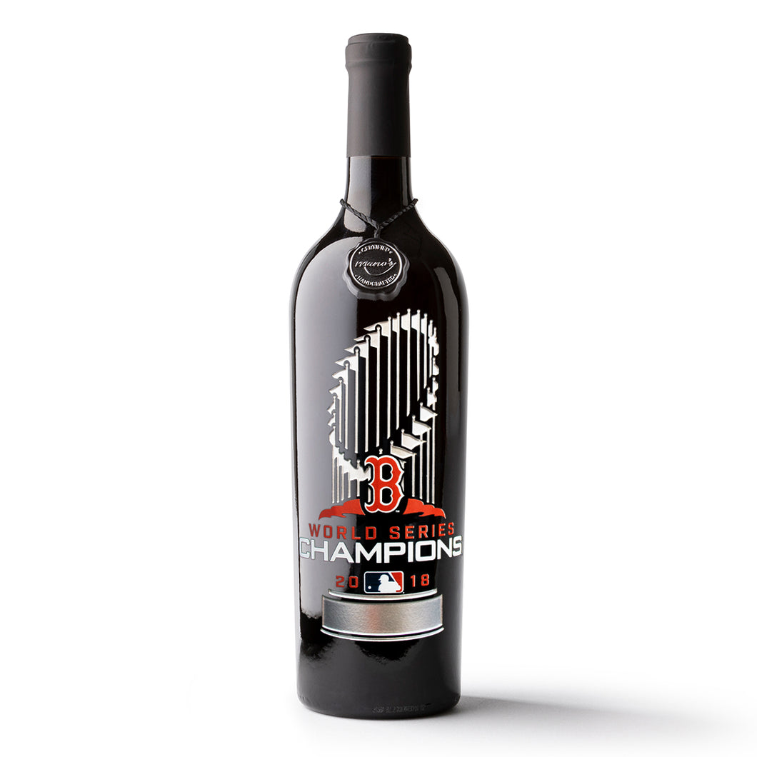 Boston Red Sox 2018 World Series™ Champions Etched Wine