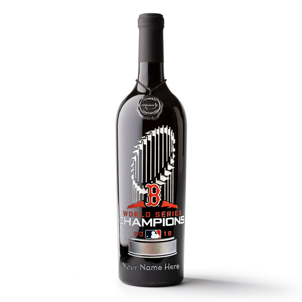 Red Sox World Series™ Champions Custom Name Etched Wine