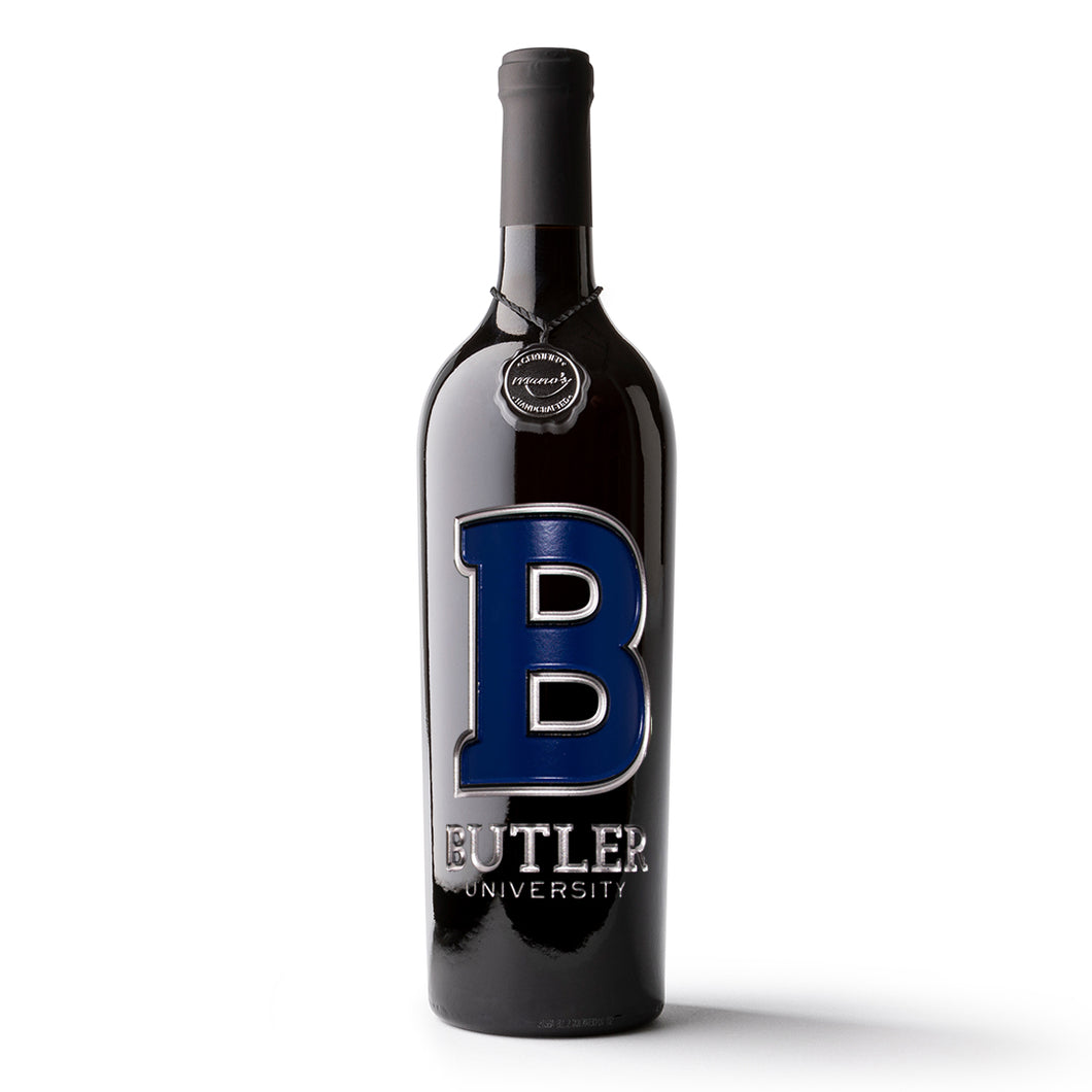 Butler University Etched Wine