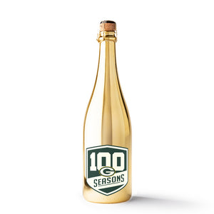 Green Bay Packers 100 Seasons Metallic Gold Bubbly