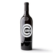 Chicago Cubs™ Custom Name Etched Wine Bottle