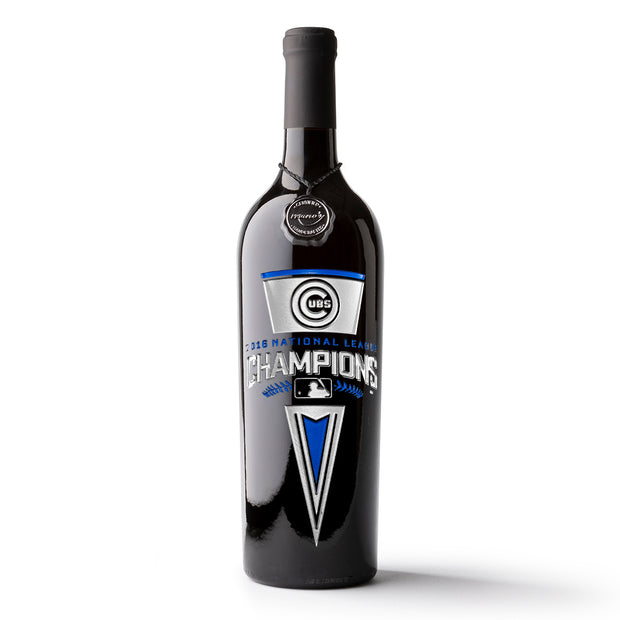 Chicago Cubs™ National League Champions Wine Bottle