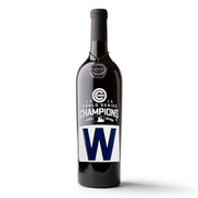 Chicago Cubs™ World Series W Wine Bottle