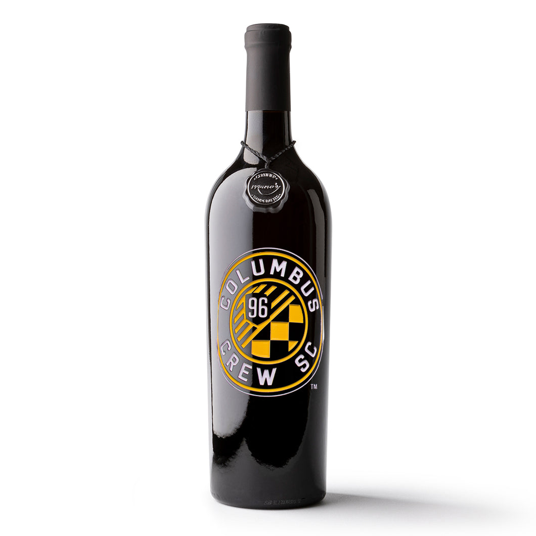 Columbus Crew SC Etched Wine