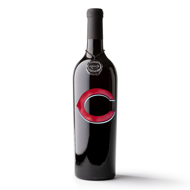 Cincinnati Reds™ Etched Wine Bottle