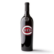 Cincinnati Reds™ Logo Etched Wine Bottle
