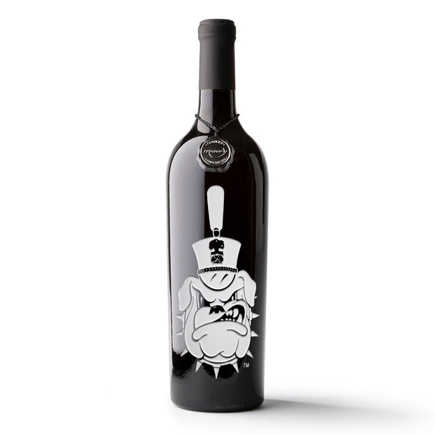 The Citadel Bulldog Logo Etched Wine