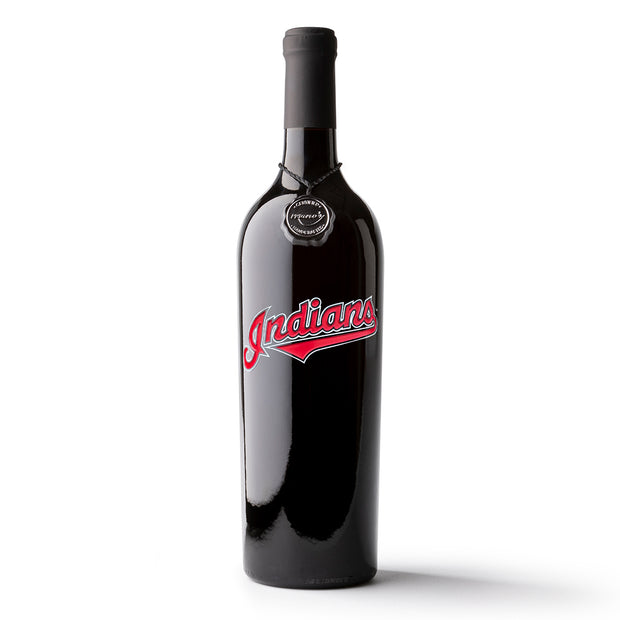 Cleveland Indians™ Etched Wine Bottle