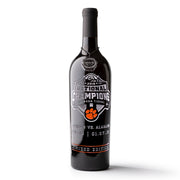 Clemson University 2018 National Champions Logo Etched Wine