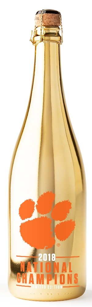 Clemson University 2018 National Champions Gold Bubbly