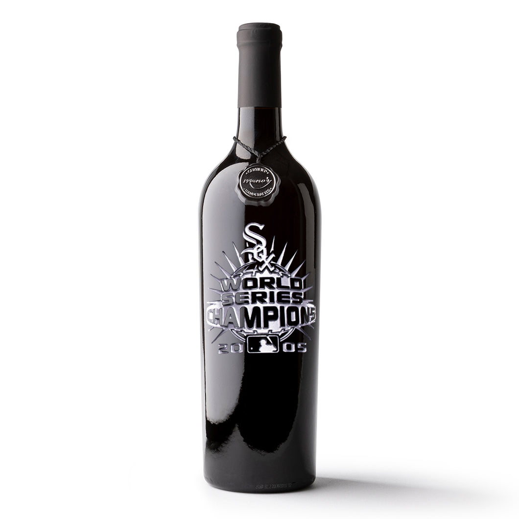 Chicago White Sox™ 2005 World Series Champions Etched Wine Bottle