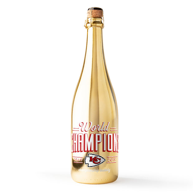 Kansas City Chiefs 2019 World Champions Gold Bubbly