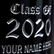 University of Dayton Custom Alumni Etched Wine