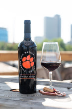 Load image into Gallery viewer, Clemson University National 2016 Champions Etched Wine Bottle