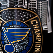 Load image into Gallery viewer, STL Blues 2019 Limited Edition Ring Etched Wine