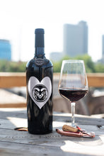 Load image into Gallery viewer, Colorado State University Heart Etched Wine Bottle