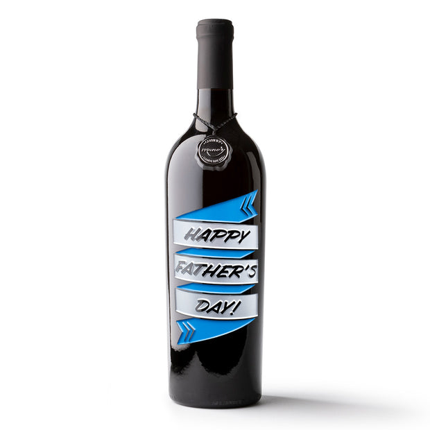Happy Father's Day Etched Wine