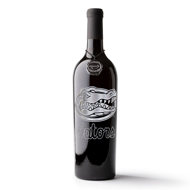 University of Florida Gators Etched Wine