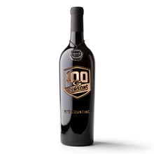 Load image into Gallery viewer, Green Bay Packers 100 Seasons Logo Etched Wine