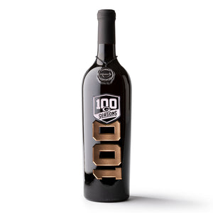 Green Bay Packers 100 Design Etched Wine