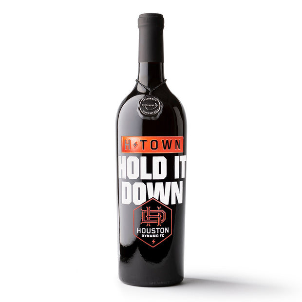 Houston Dynamo Hold It Down Etched Wine
