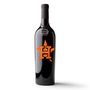 Houston Astros™ Logo Etched Wine Bottle
