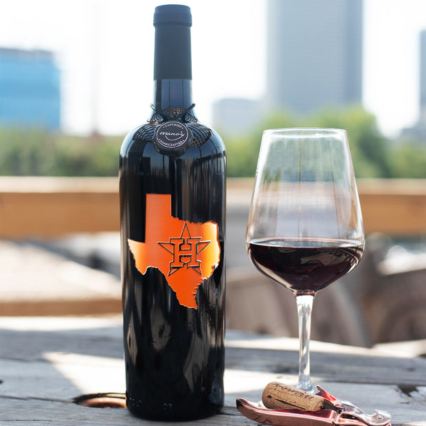 Houston Astros™ Outline Etched Wine