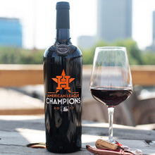 Load image into Gallery viewer, Houston Astros™ 2017 AL Champions Etched Wine Bottle