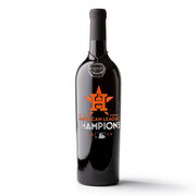 Houston Astros™ 2017 AL Champions Etched Wine Bottle