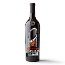 Load image into Gallery viewer, Houston Astros™ 2017 World Series™ Champions Etched Wine Bottle