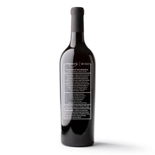 Load image into Gallery viewer, Valentine's Dotted Heart Etched Wine Bottle
