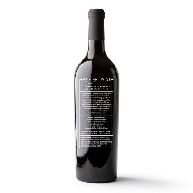 Eat, Drink, Give Thanks Etched Wine Bottle