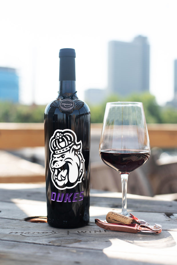 James Madison Dukes Etched Wine