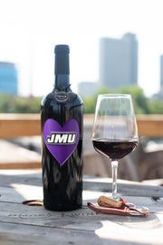 James Madison Heart Etched Wine