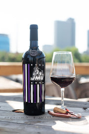 James Madison Flag Etched Wine