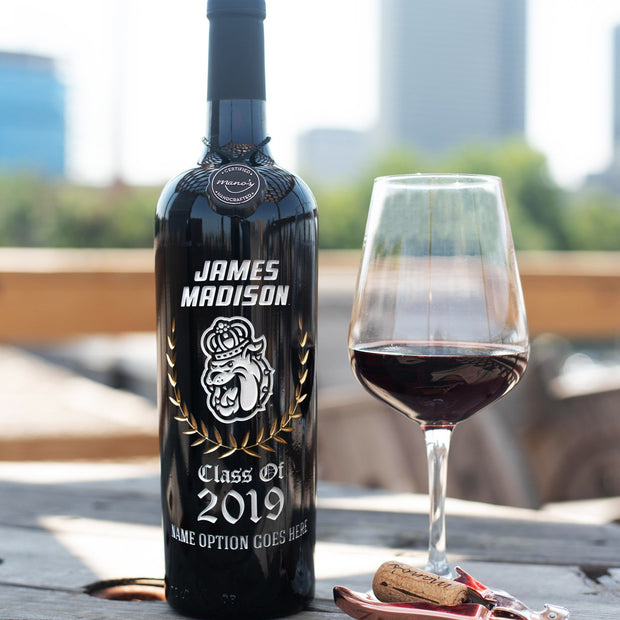James Madison Custom Alumni Etched Wine