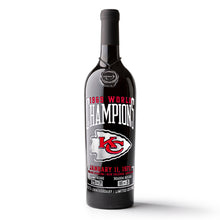 Load image into Gallery viewer, KC Chiefs 1969 Champions Etched Wine