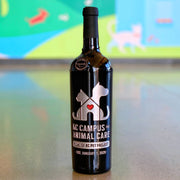 KC Campus For Animal Care Etched Wine Bottle