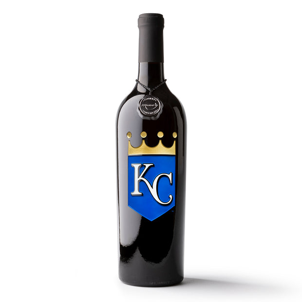 Kansas City Royals™ Etched Wine Bottle
