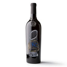 Load image into Gallery viewer, Kansas City Royals™ 2015 World Series Commemorative Etched Wine Bottle