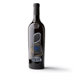 Kansas City Royals™ 2015 World Series Commemorative Etched Wine Bottle