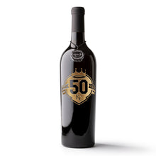 Load image into Gallery viewer, Kansas City Royals™ 50th Anniversary Etched Wine