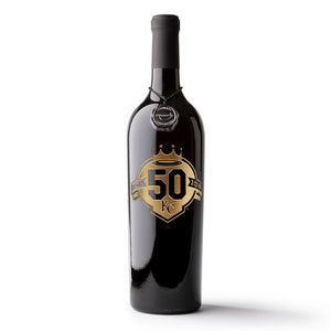 Kansas City Royals™ 50th Anniversary Etched Wine