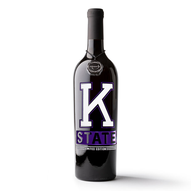 K-State Wabash Collection Limited Edition Etched Wine