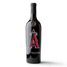 Load image into Gallery viewer, Los Angeles Angels™ Custom Name Etched Wine Bottle